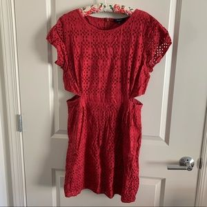 Madewell side cut out embroidered sundress